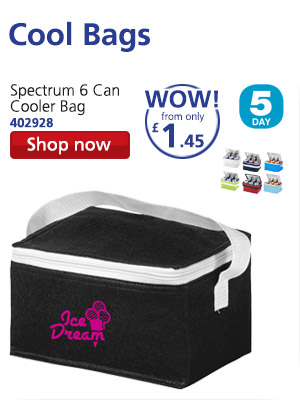 Cool Bags: Spectrum 6 Can Cooler Bag 402928 WOW! from only £1.45 5 DAY Shop now