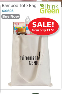 Bamboo Tote Bag - on Sale from only £1.55