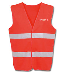 View a larger, more detailed picture of the Hi Vis Safety Vest - Orange