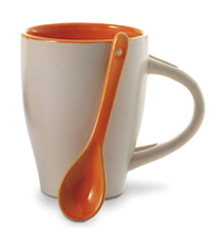 View a larger, more detailed picture of the Coffee Mug With Spoon