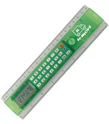 View a larger, more detailed picture of the 20cm Ruler with Calculator - 3 day