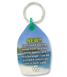 View a larger, more detailed picture of the DISC Recycled Drink Bottle Keyring