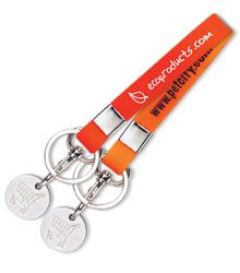View a larger, more detailed picture of the Silicone Trolley Coin Keyring