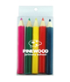 Half Size Colouring Pencils 5 pack