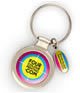 Round Domed Metal Keyring - Full Colour
